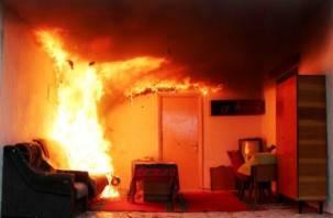 В Смоленске минувшей ночью огонь уничтожил квартиру