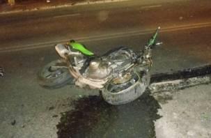 На Смоленщине водитель мотоцикла попал в больницу