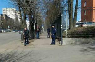 Осужденные навели порядок в Смоленске