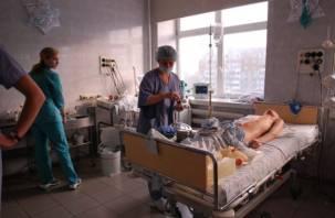 В Смоленской области парень порезал себя ножом