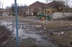 ВИДЕО: В Ярцеве появился «мусорный двор»