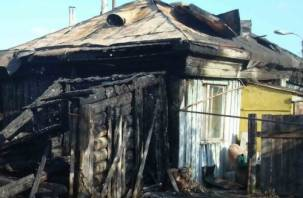 В Смоленской области мужчина заживо сгорел в своем доме