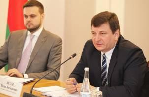 Смоленские власти подарили свою область Белоруссии. Пока что в виде карты