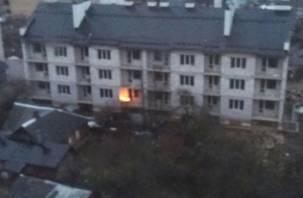 ВИДЕО: В Смоленске в элитной новостройке разожгли костер