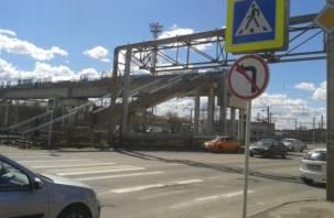 В Смоленске автомобилистам запретили ездить по лестницам