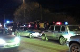 В Смоленске погоня ДПС за нарушителем закончилась серьезной аварией (фото, видео)