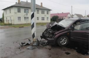 Смолянка угнала машину и протаранила столб