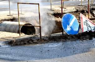 На семи улицах Смоленска отключат горячую воду