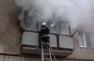 В смоленской квартире заживо сгорел пенсионер