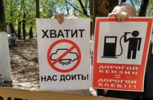 «Хватит нас доить». В Смоленске прошел пикет против роста цен на бензин