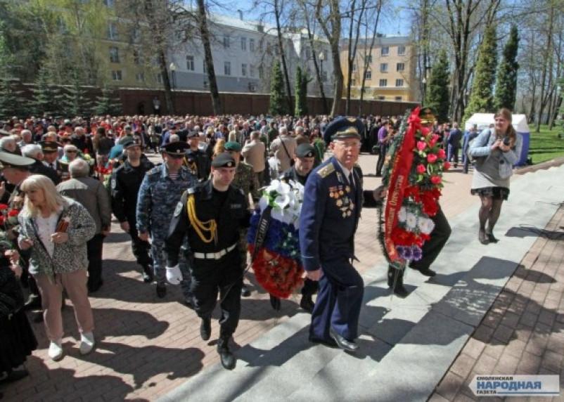 В Смоленске прошел митинг, посвященный Великой Победе. Фоторепортаж