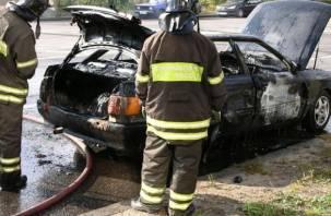 Под Смоленском в сгоревшем автомобиле был обнаружен труп