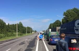 На российско-белорусской границе образовалась пробка в 15 километров