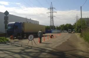 Возле смоленского автовокзала обнаружился «особо опасный участок дороги»