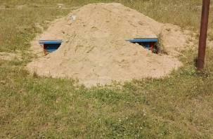 Дорогобужские родители в шоке от детских песочниц