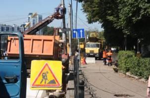 В Смоленске стихия чуть не смыла контактную сеть трамваев