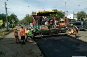 Ремонт дороги на улице Николаева в Смоленске спровоцировал огромную пробку