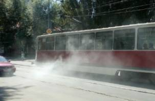 В Смоленске задымился трамвай