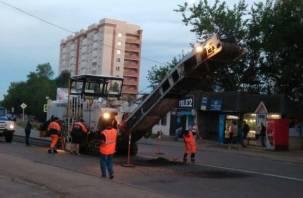В Смоленске приступили к ремонту улицы Лавочкина