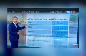 Про сильнейший ливень в Смоленске рассказали на федеральном телеканале