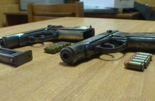 Пистолеты Макарова, патроны, электрошокеры: смоленские полицейские задержали «незваных гостей»