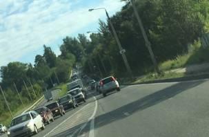Смоленских автомобилистов просят воздержаться от поездок через улицу  Соболева