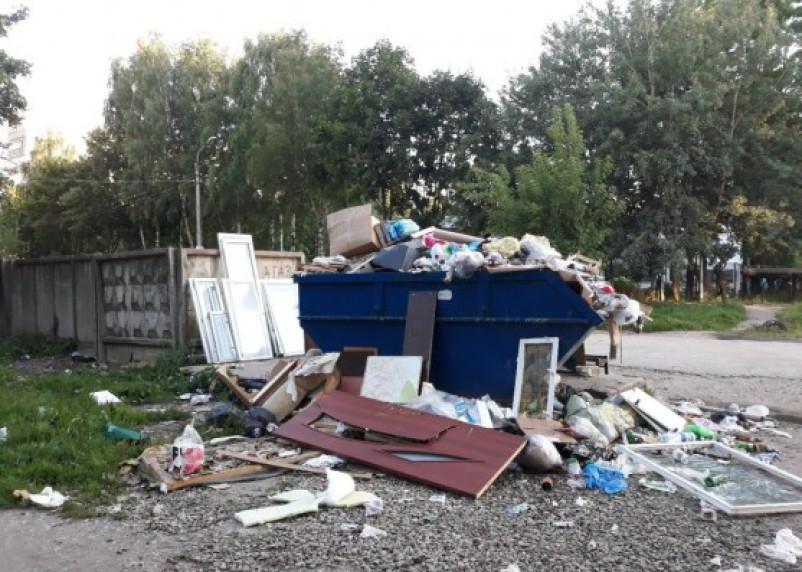 В Заднепровском районе Смоленска с каждым днем растет мусорная гора