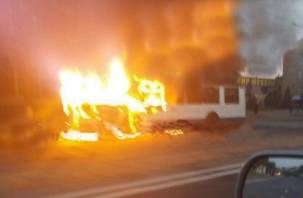 В Смоленске утром сгорел троллейбус