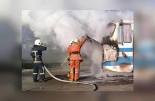 Смоленский рейсовый автобус с пассажирами загорелся в пути