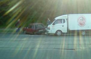 В Смоленске сняли на видео последствия жесткого ДТП