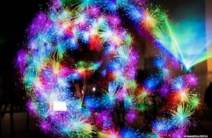 Смоляне увидели красочное лазерное шоу. Фоторепортаж