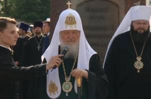 Патриарх Кирилл рассказал о Смоленске в эфире Первого телеканала