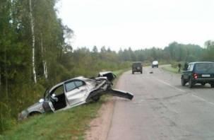 В Рославльском районе два человека пострадали в жесткой аварии