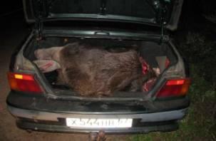 Смоляне убегали от полиции с мертвым лосем в багажнике