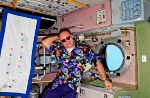 Смоленский космонавт отметил День рождения на борту МКС