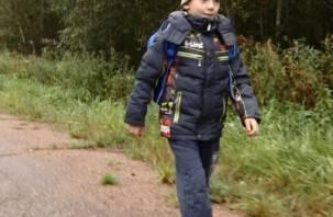 По дороге в школу смоленский первоклашка проходит километры по кладбищу, лесу и трассе