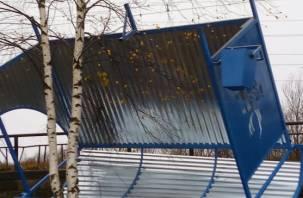 В Смоленске опять «улетела» новая остановка