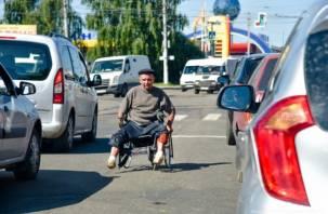 Смоленские водители жалуются на дорожных попрошаек