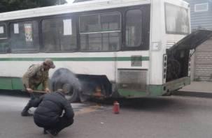 В Смоленске автобус №22 «вспыхнул» из-за проводки