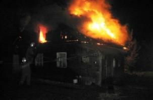 В смоленской деревне заживо сгорел человек