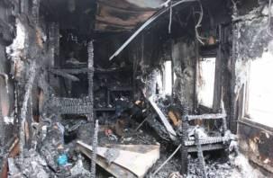 В Смоленской области мужчина погиб в горящем здании