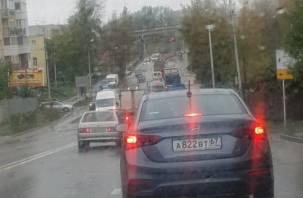 Из-за ДТП в Заднепровье образовались огромные пробки