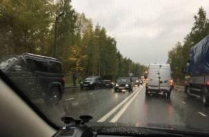 Сегодня Смоленск из-за аварий встал в пробках