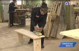 Федеральный телеканал рассказал, как на Смоленщине заключённые делают мебель для детей