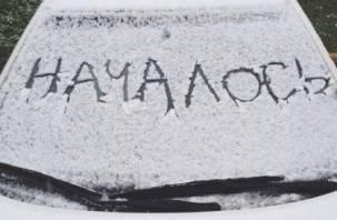 Смоленскую область основательно накрыло снегом