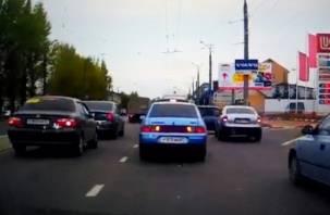 Не успел заправиться: ДТП на Шевченко в Смоленске попало на видео