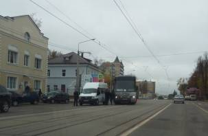 В Смоленске столкнулись маршрутка и рейсовый автобус