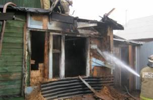 Под Смоленском в горящем доме заживо сгорел мужчина