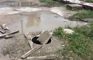 Жители Смоленской области рискуют провалиться в открытые люки