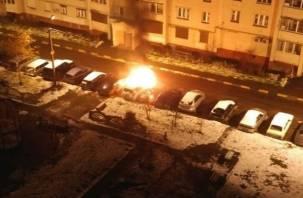 В Смоленске огонь уничтожил японский кроссовер